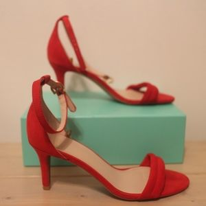 H&M Red Peep Toes